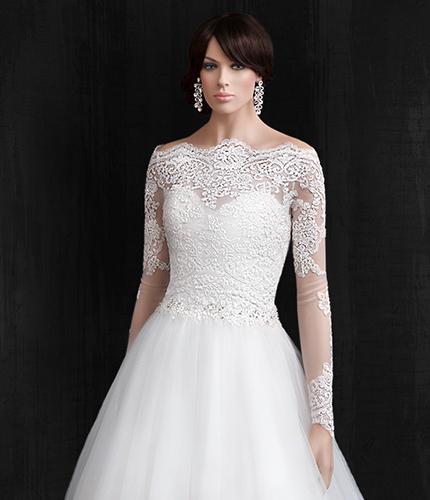 Brautkleider online - IMPOORIA - Bolero Carmen Ausschnitt J19004 von ...