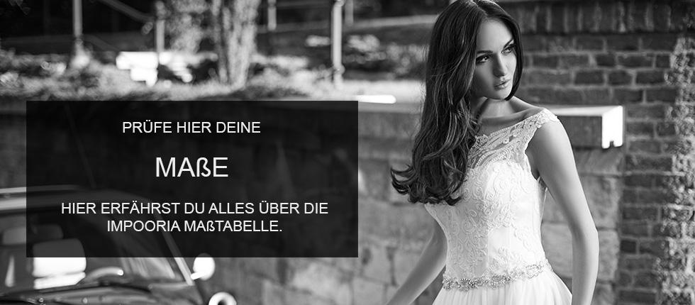 Brautkleider online - IMPOORIA - Maßtabelle für Brautkleider online ...